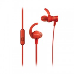 Ecouteurs sport intra-auriculaires rouge
