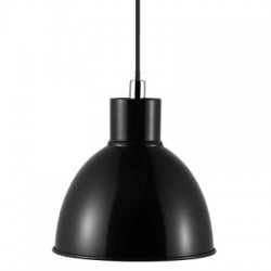 Pop susp E27 noir