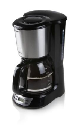Cafetière noir 1,5L RVS avec timer
