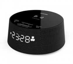 Clock Radio with Wireless Charg