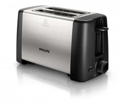 Toaster metal 2 slot black