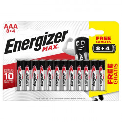ENERGIZER MAX LR03 AAA BL8+4 PROMO